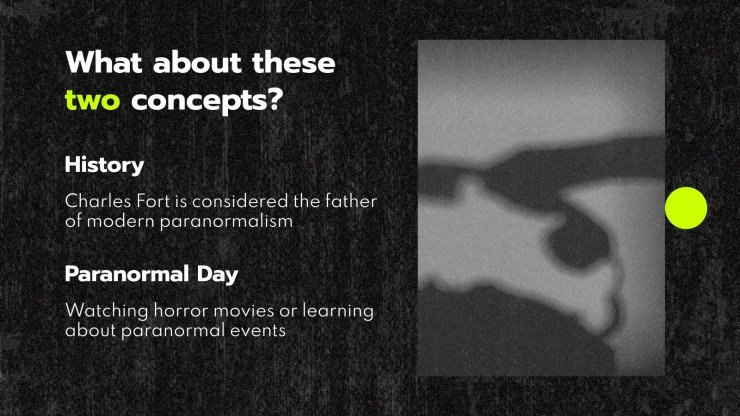 Paranormal Day presentation template