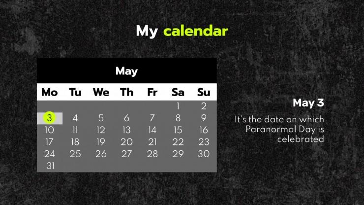 Journée du paranormal : Modèles de présentation