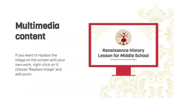 Leçon d'histoire sur la Renaissance : Modèles de présentation