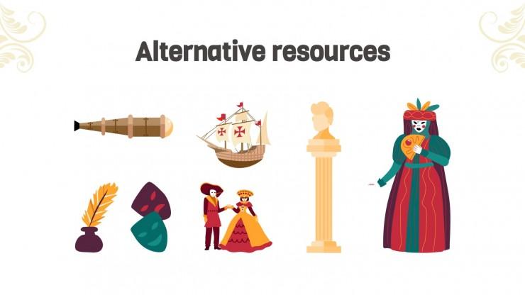 Plantilla de presentación Clase de historia del Renacimiento