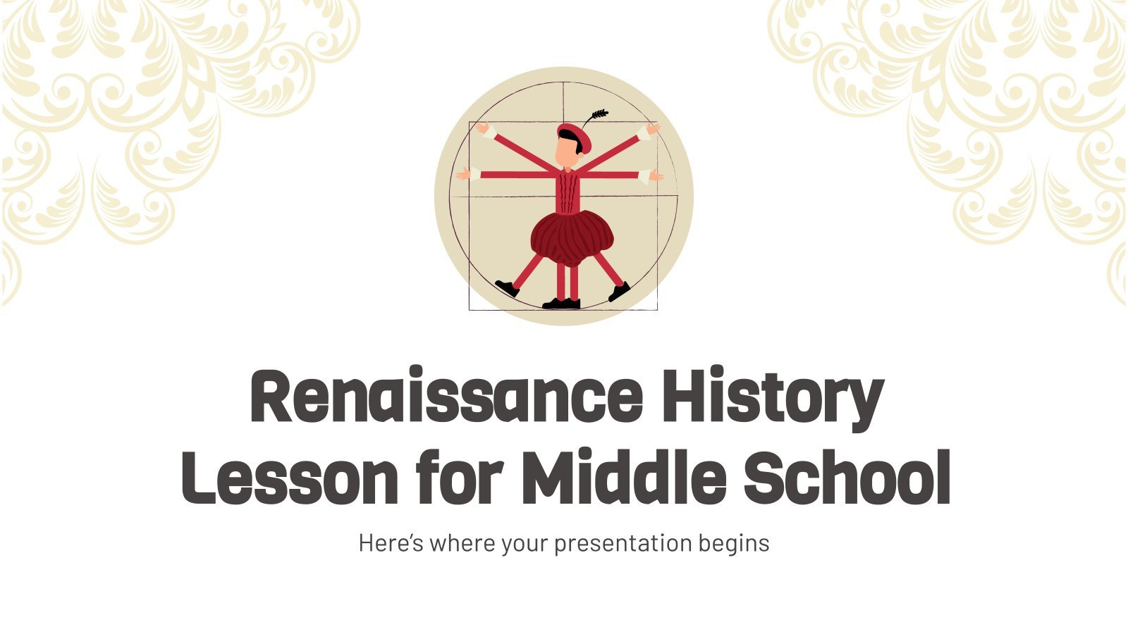 Renaissance History Lesson for Middle School presentation template