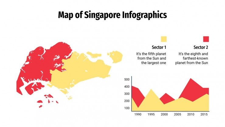 Map of Singapore Infographics presentation template
