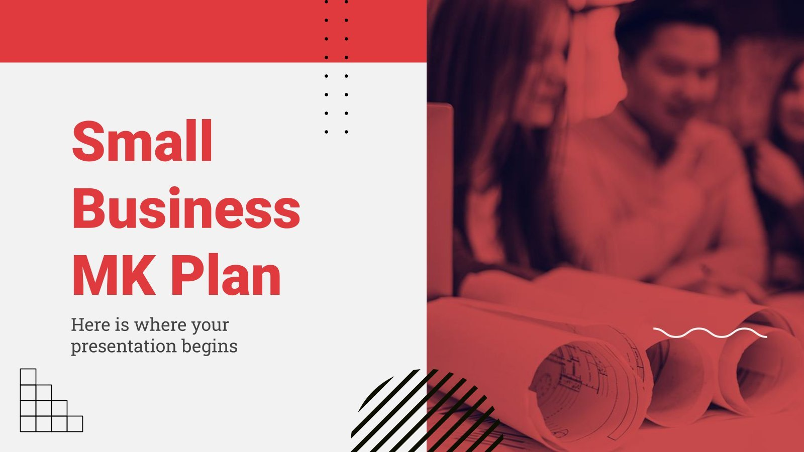 Small Business MK Plan presentation template