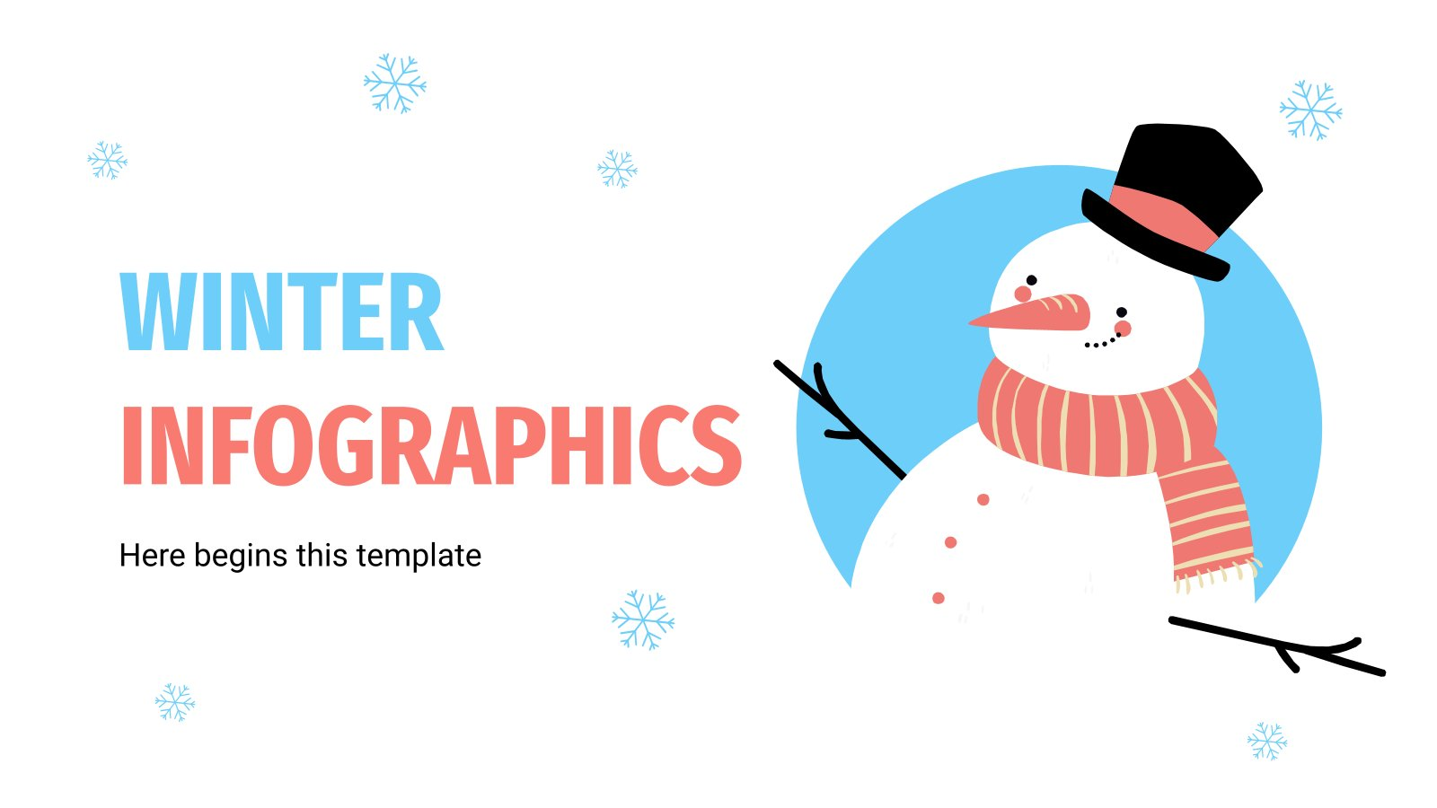 Winter Infographics presentation template