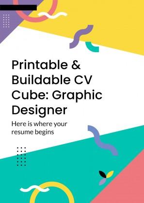 Printable & Buildable CV Cube: Graphic Designer presentation template