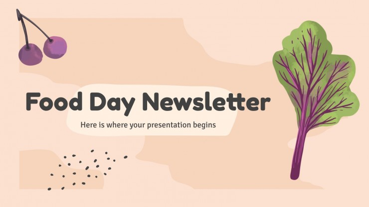 Food Day Newsletter presentation template