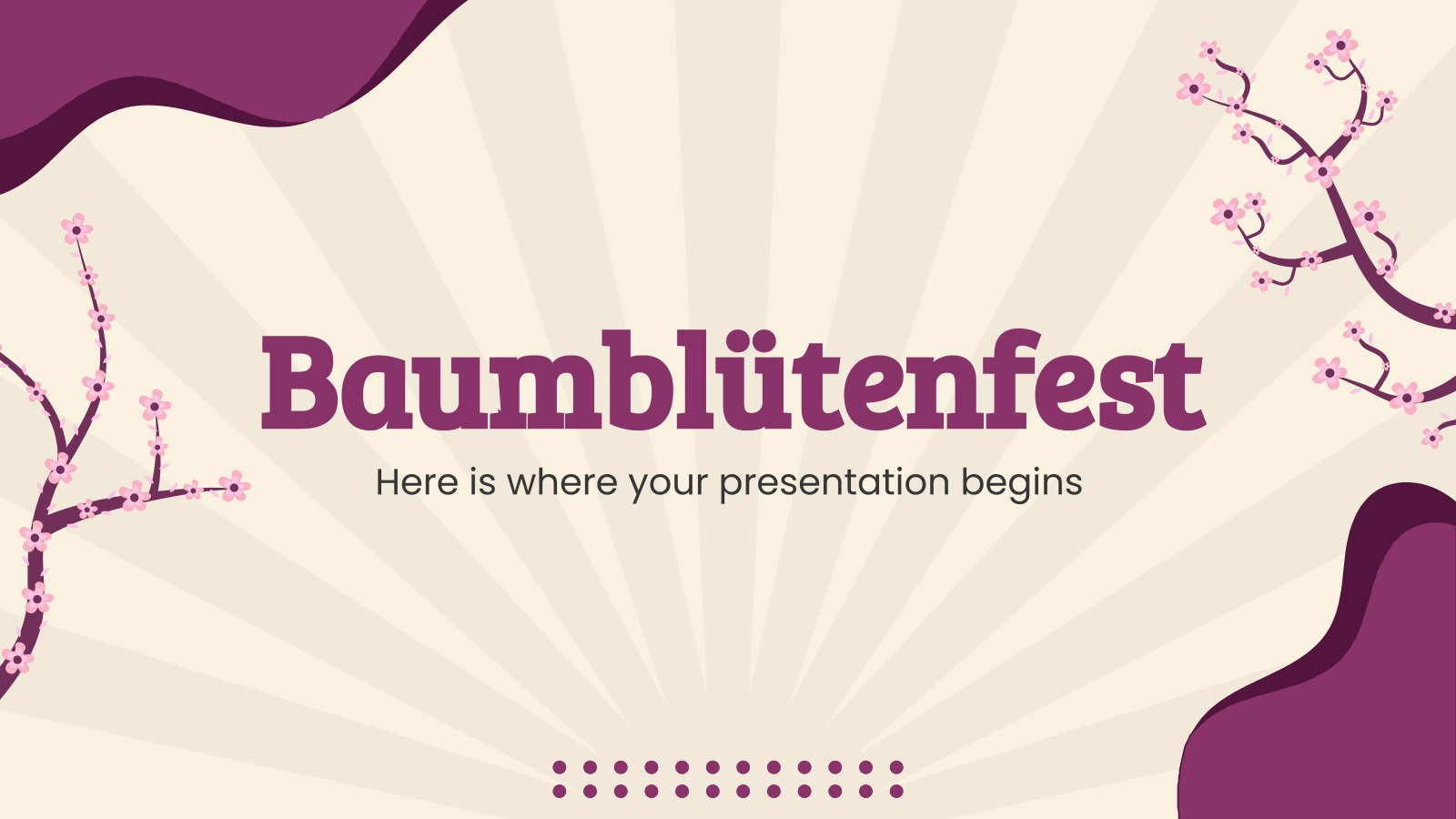 Baumblütenfest presentation template