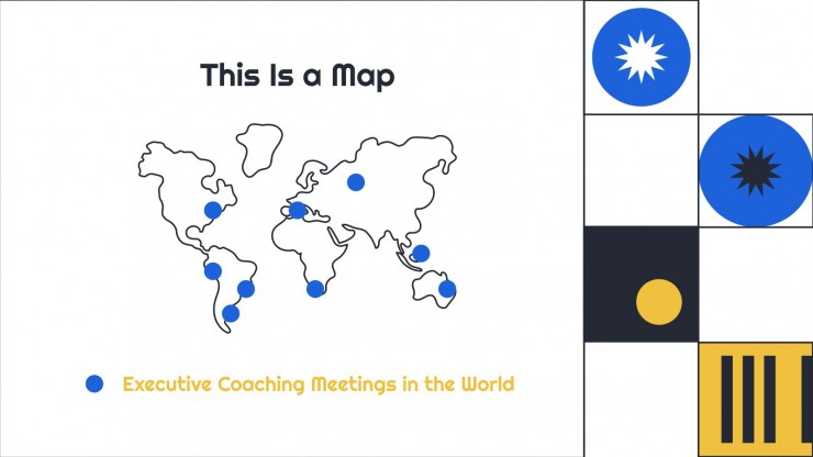 Plantilla de presentación Reunión de coaching ejecutivo