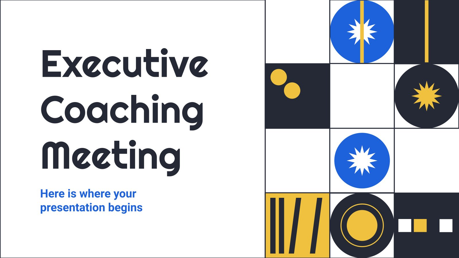 Executive Coaching Meeting presentation template