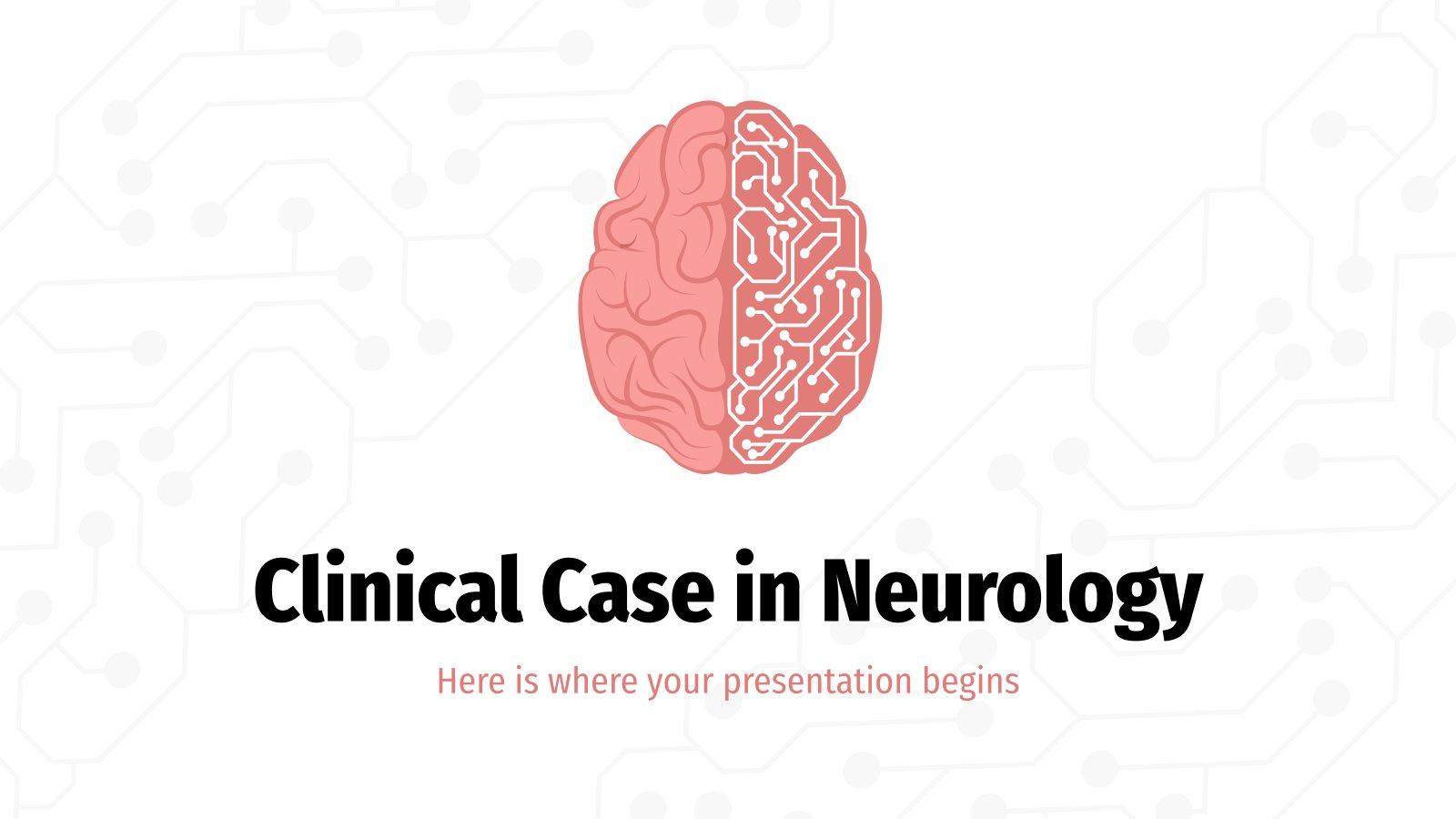 Klinischer Fall in der Neurologie Präsentationsvorlage