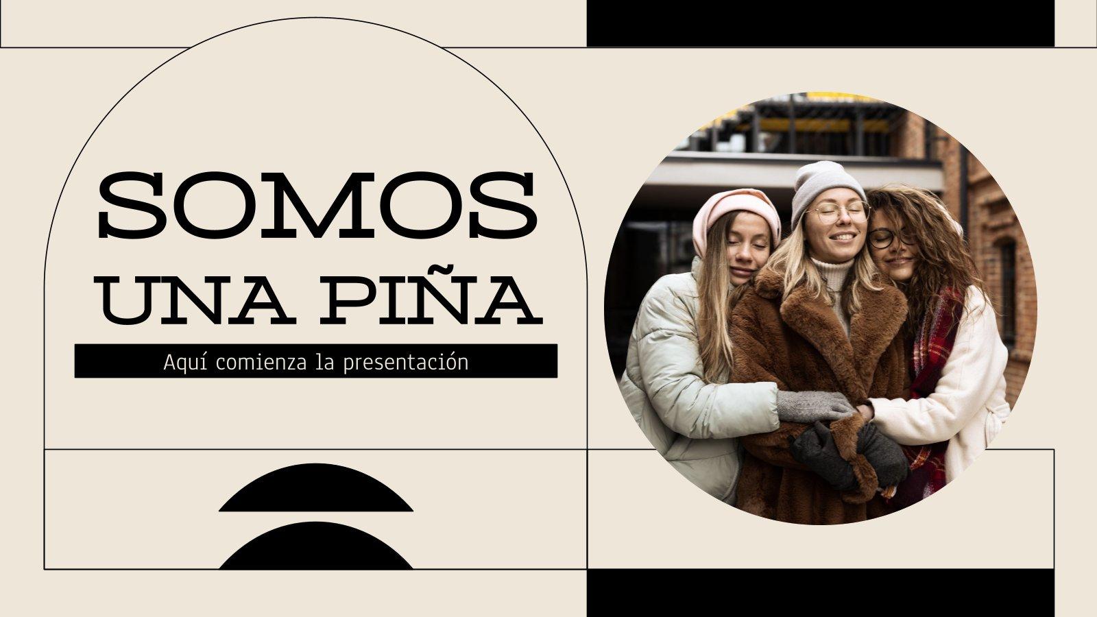 Somos Una Piña presentation template