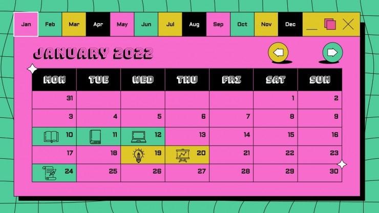 Modelo de apresentação Agenda da geração dos anos 90