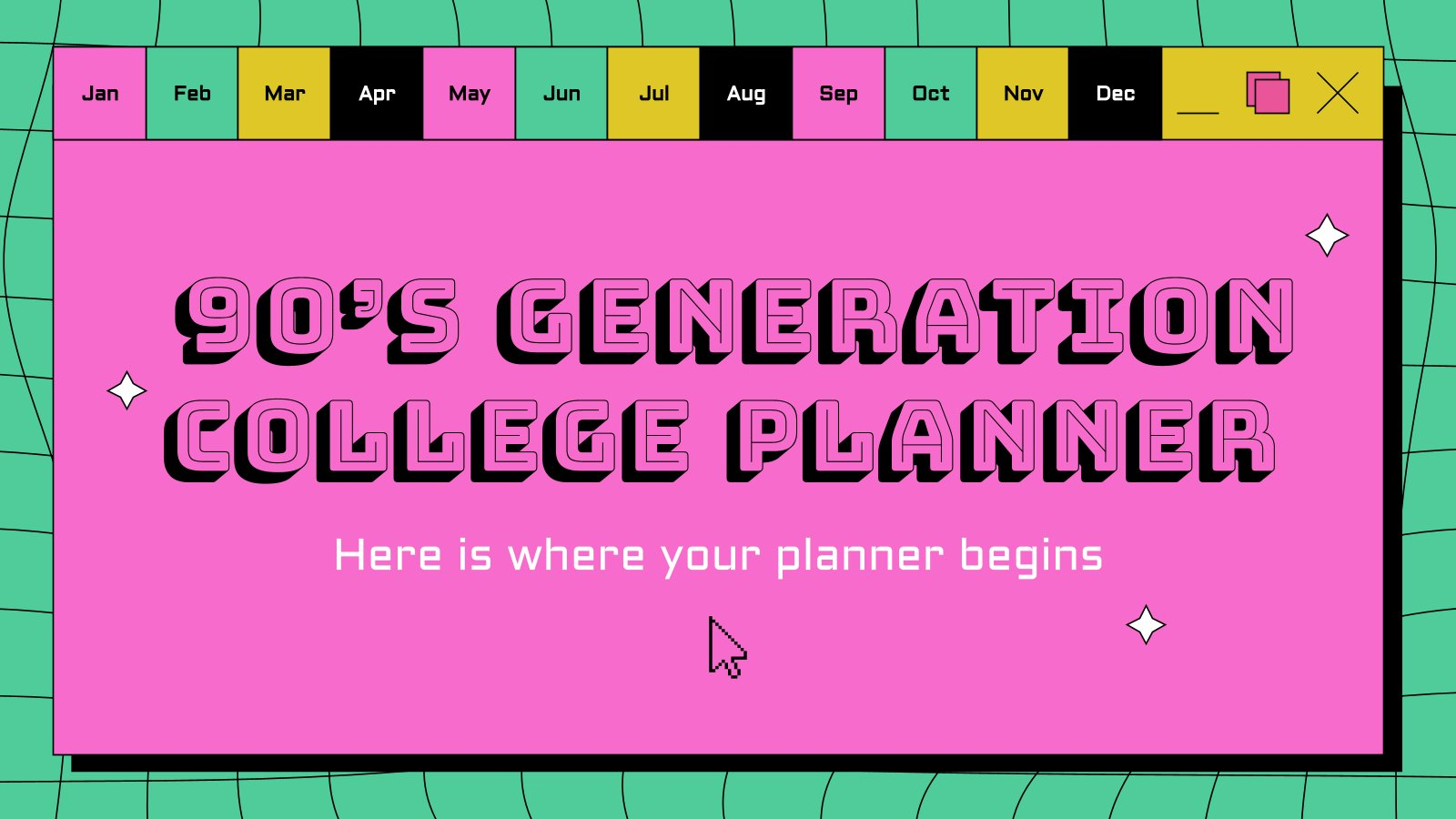 90's Generation College Planner presentation template