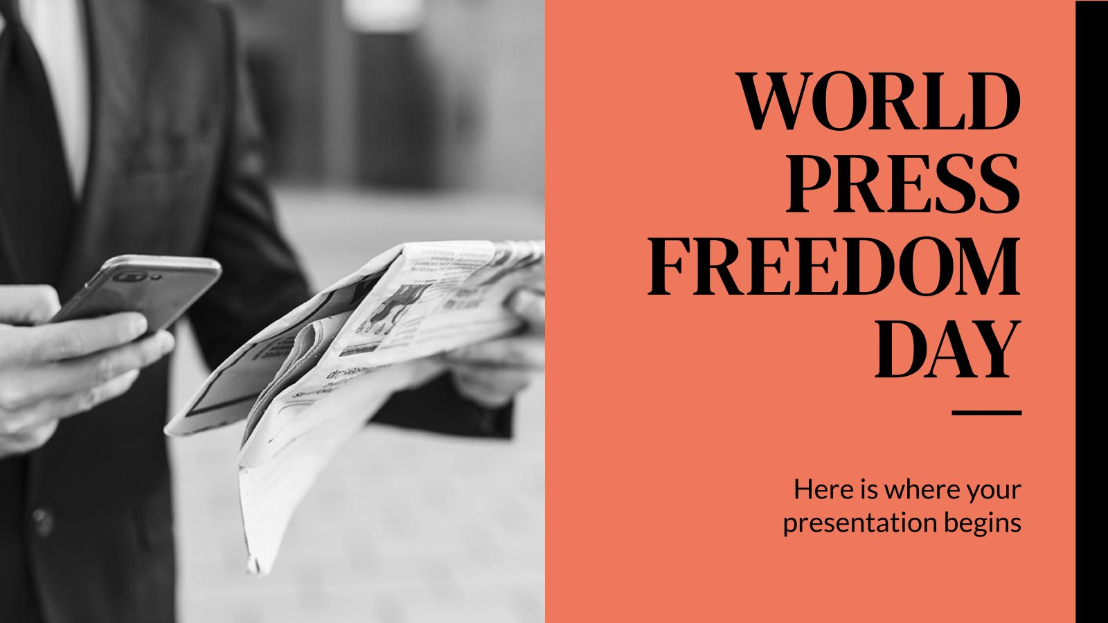 World Press Freedom Day presentation template
