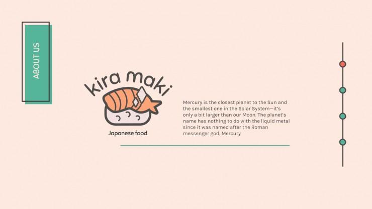 Kawaii Sushi Company presentation template