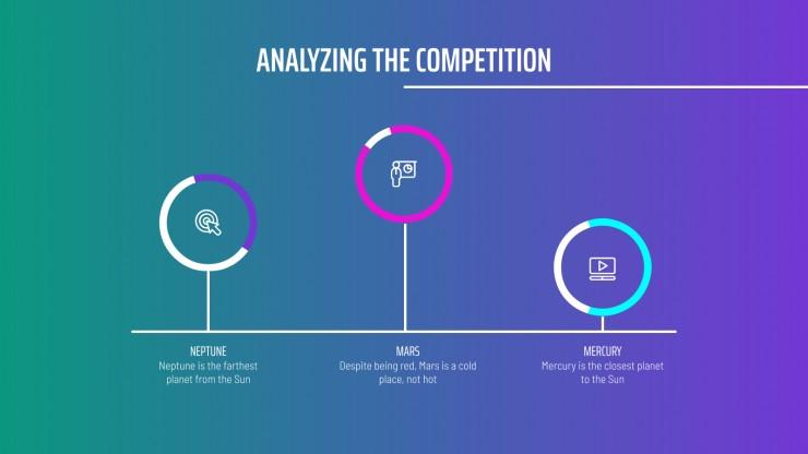Isometric Gradient Social Media Strategy presentation template