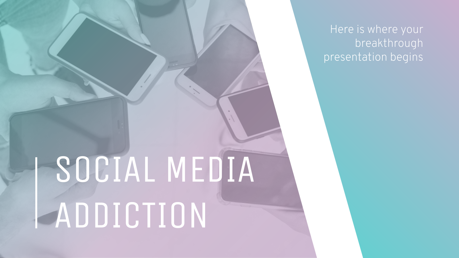 Social Media Addiction Breakthrough presentation template