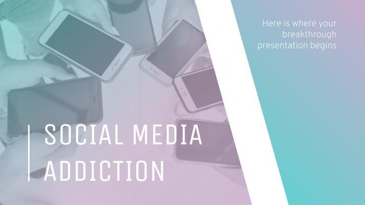 Plantilla de presentación Adicción a las redes sociales
