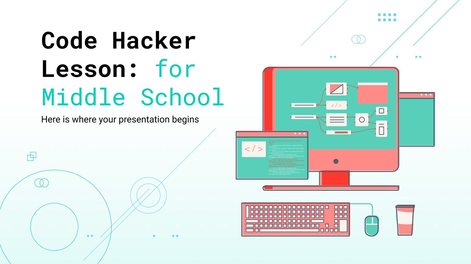 Plantilla de presentación Clase sobre hackers y programación