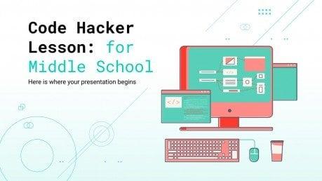 Lektion Code Hacker für die Mittelstufe Präsentationsvorlage
