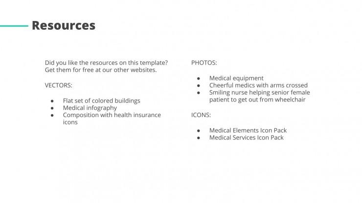 Centre médical communautaire : Modèles de présentation
