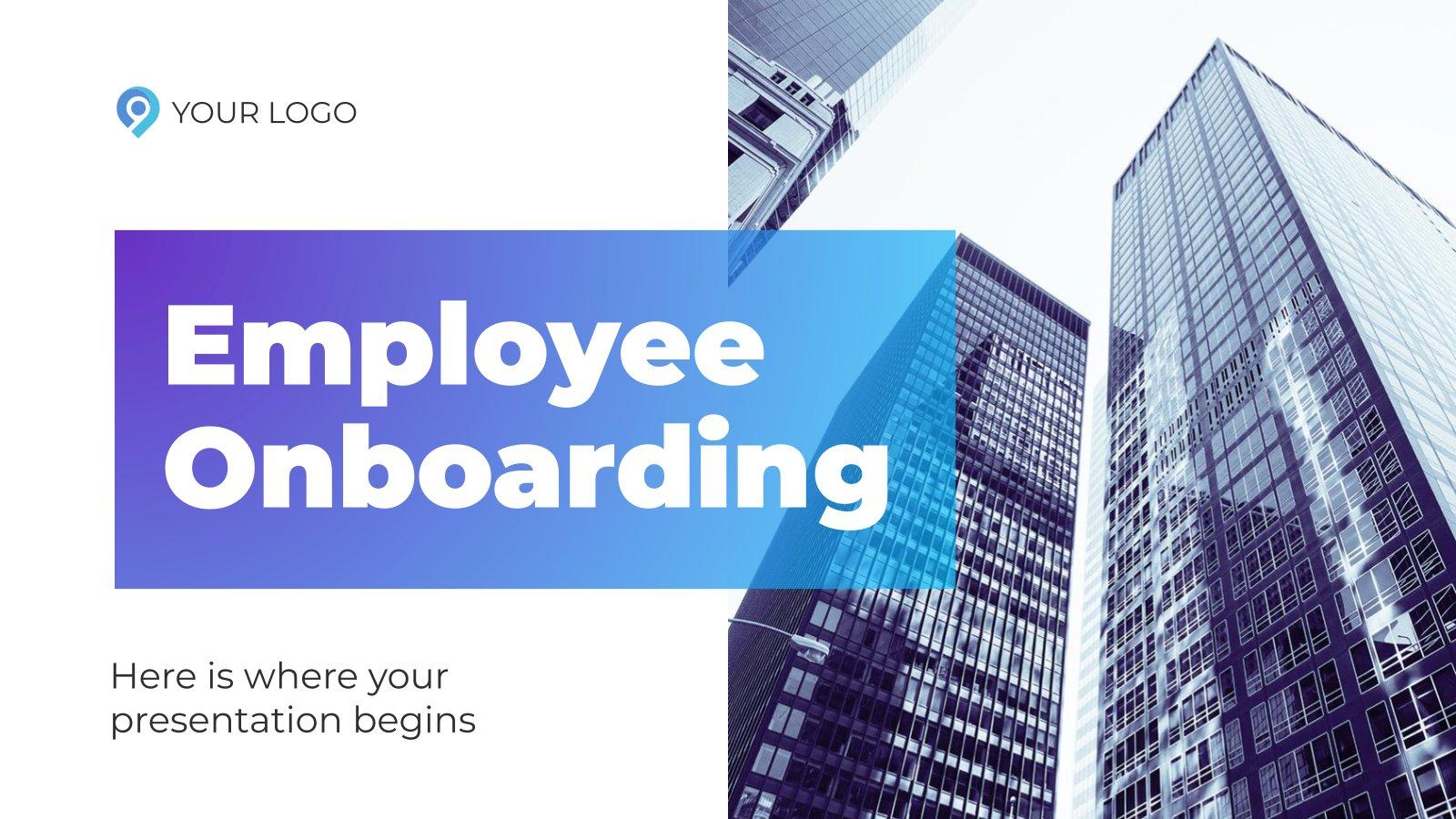 Plantilla de presentación Incorporación de empleados