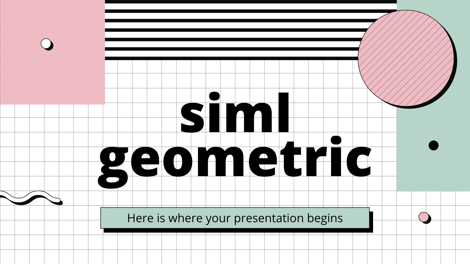 Siml Geometric presentation template