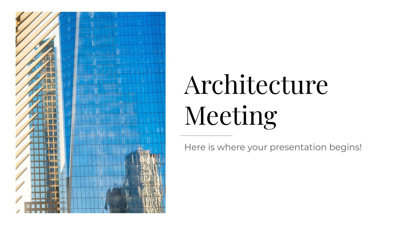 Architecture Meeting presentation template