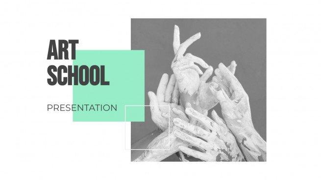 Plantilla de presentación Escuela de arte