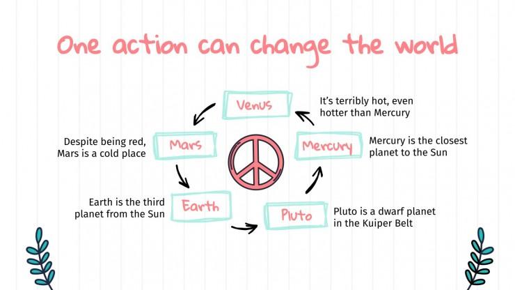 Plantilla de presentación Actividades para el Día de la Paz