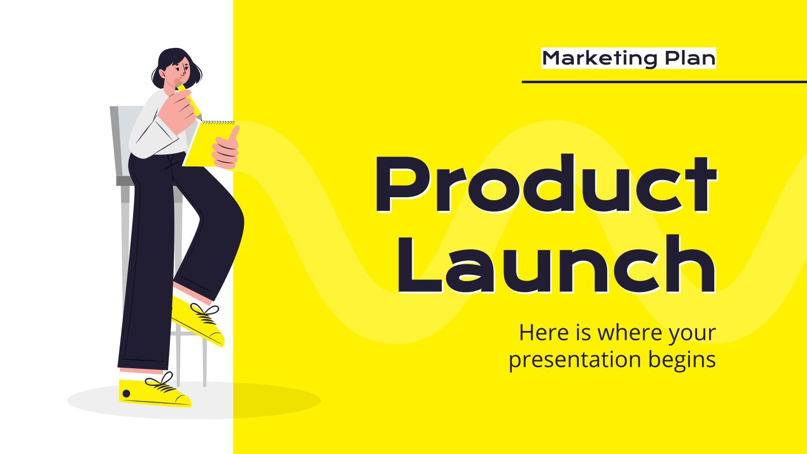 Product Launch Marketing Plan presentation template