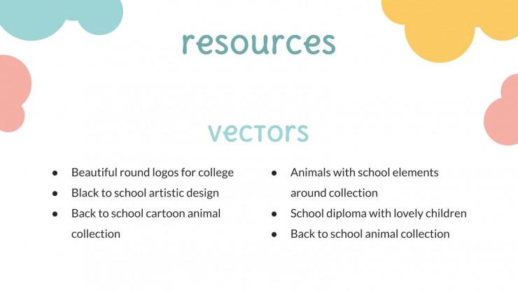 Modelo de apresentação Prêmios fim de ano: pré-escola