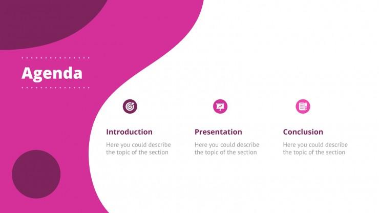 Abstrait courbe : Modèles de présentation