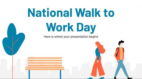 National Walk to Work Day presentation template
