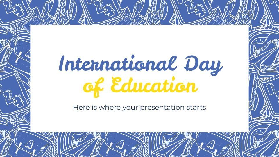 Journée internationale de l'éducation : Modèles de présentation