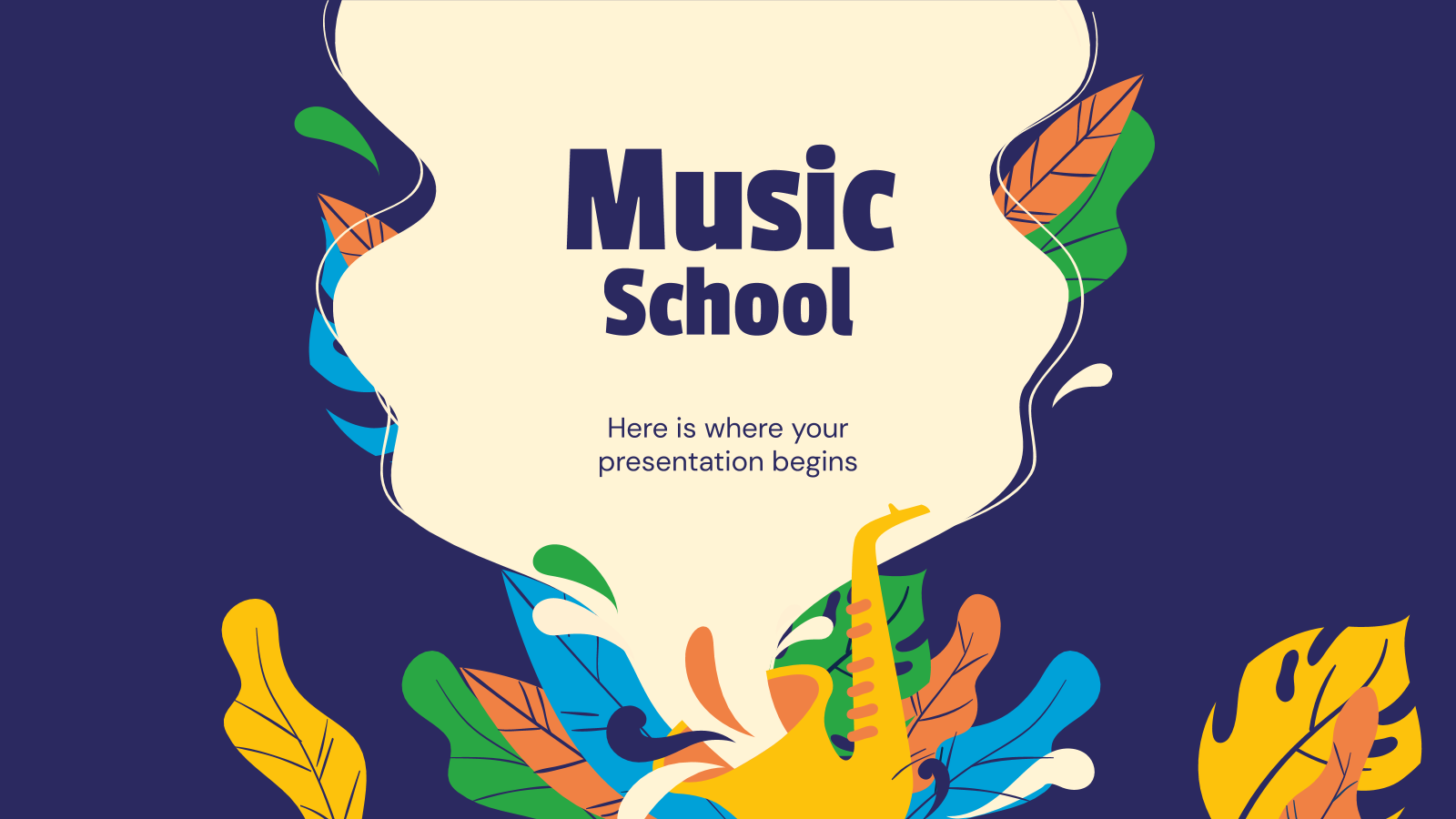 Music School Google Slides Theme And Powerpoint Template