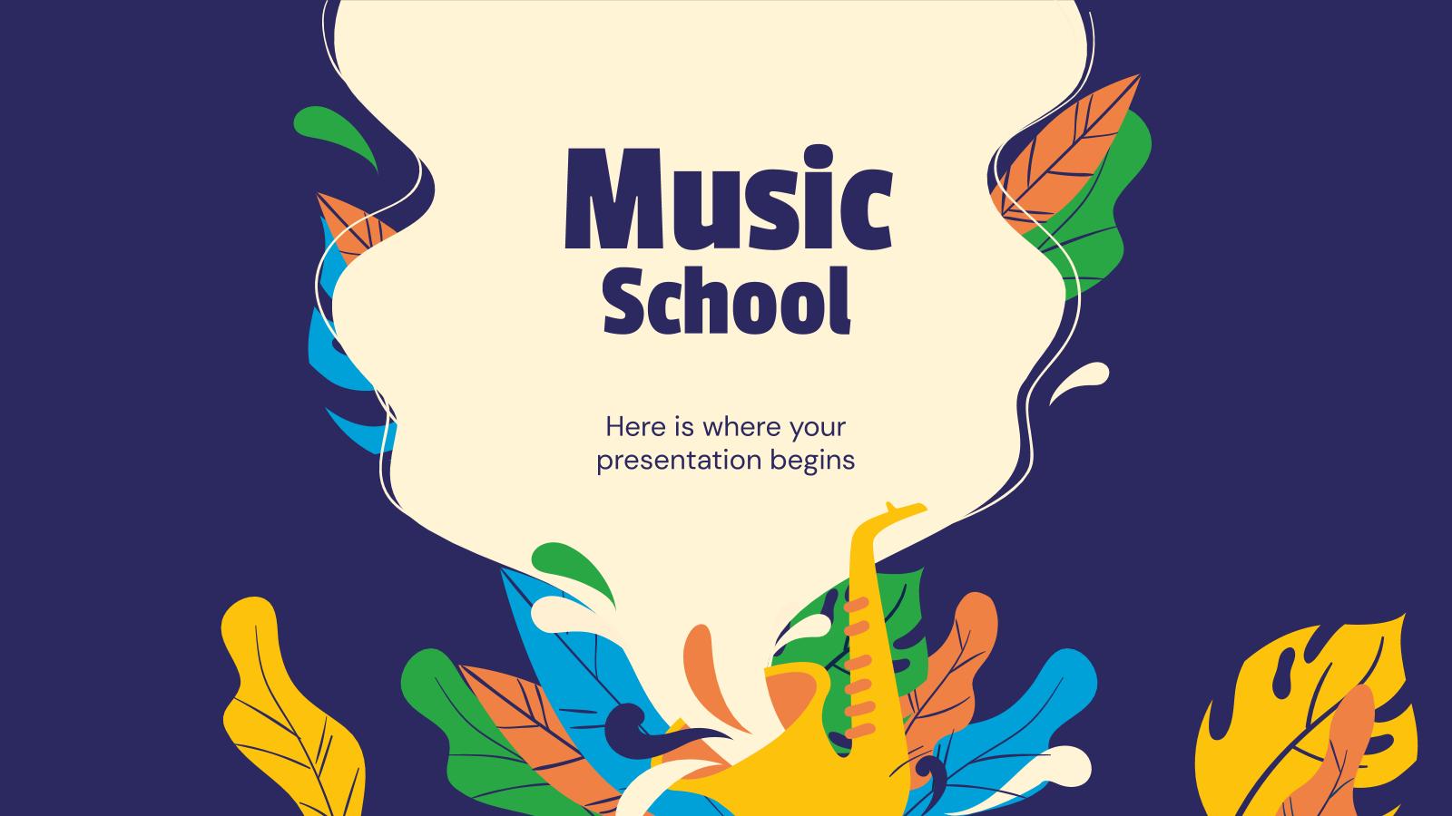 École de musique : Modèles de présentation