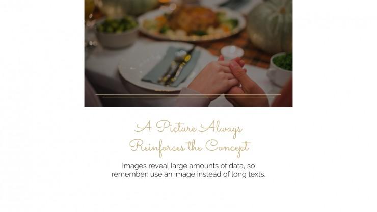 Modelo de apresentação Jantar de Ação de Graças