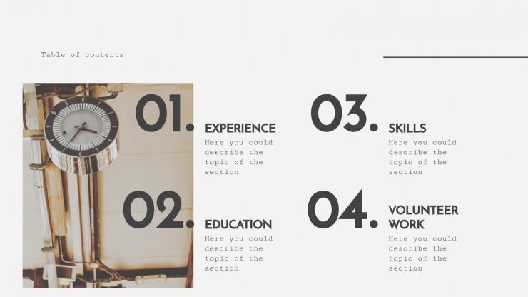 Plantilla de presentación Currículo minimalista