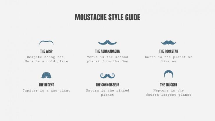 Mustache Campaign presentation template