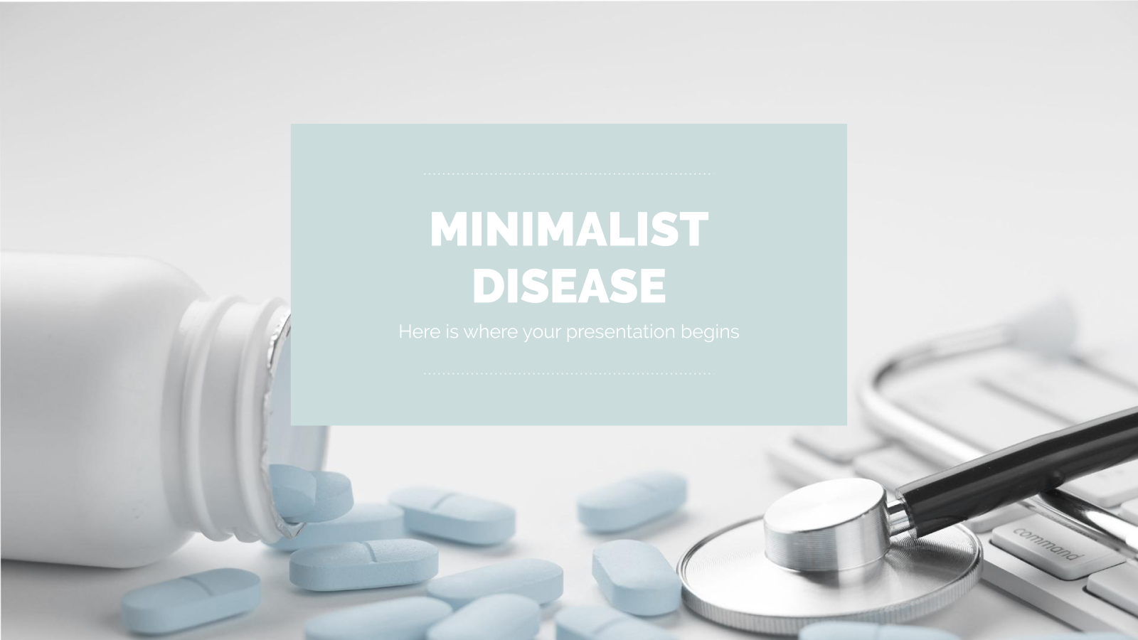 Minimalist Disease presentation template