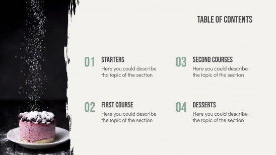 Modelo de apresentação Livro de receitas