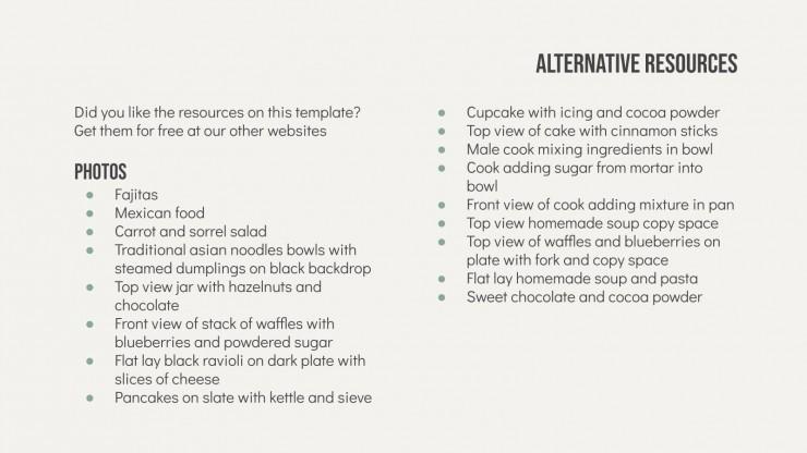 Book of Recipes presentation template