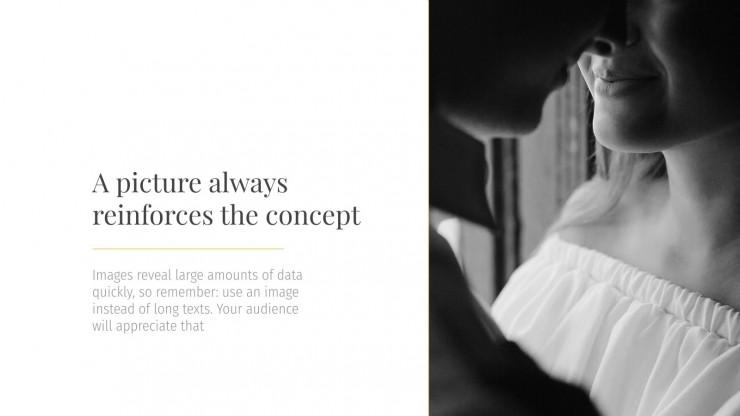 Plantilla de presentación Elegancia blanca