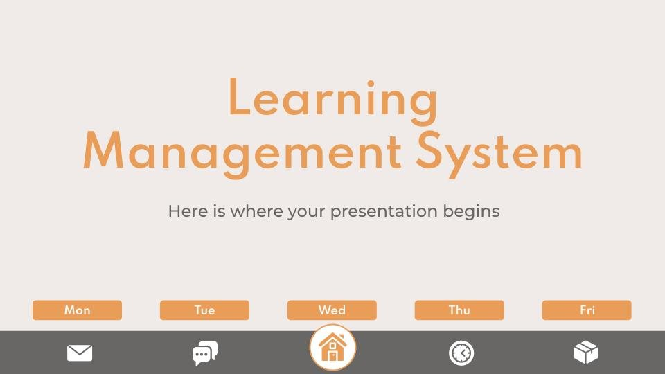 Learning Management System presentation template