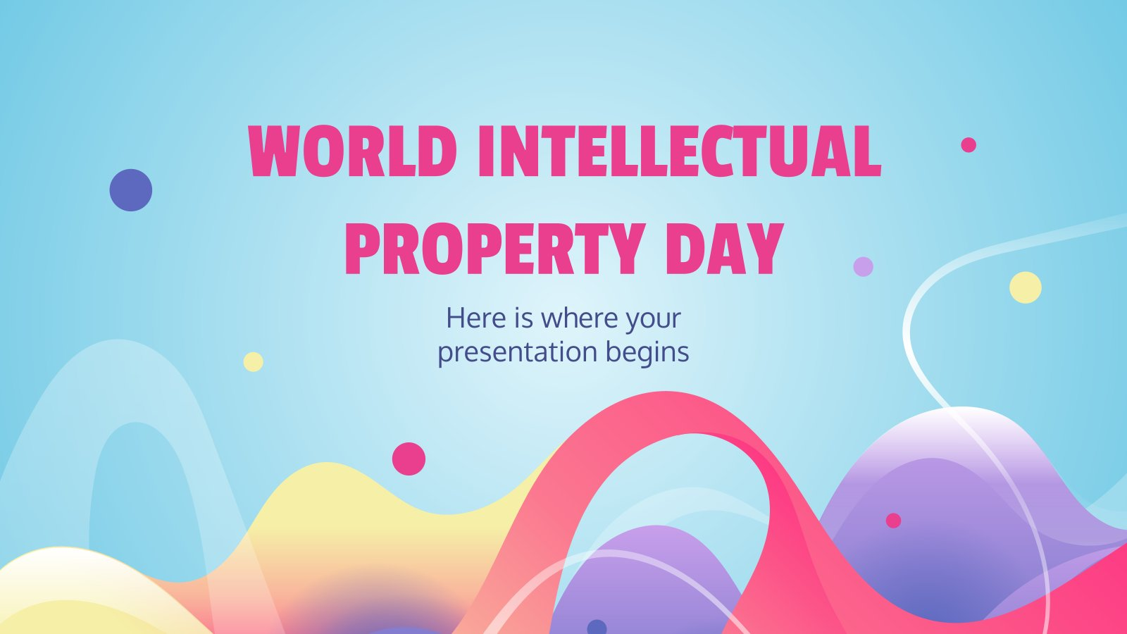 World Intellectual Property Day presentation template