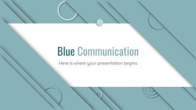 Plantilla de presentación Comunicación azul