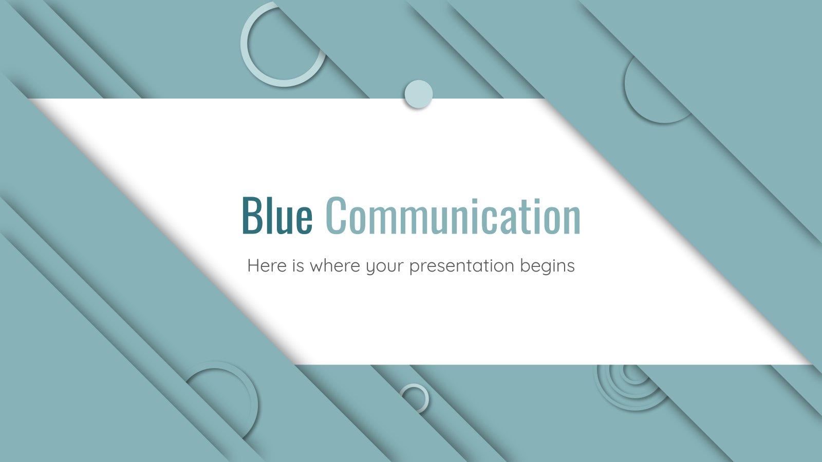 Modelo de apresentação Comunicação azul
