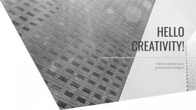 Modelo de apresentação Arquitetura em preto e branco