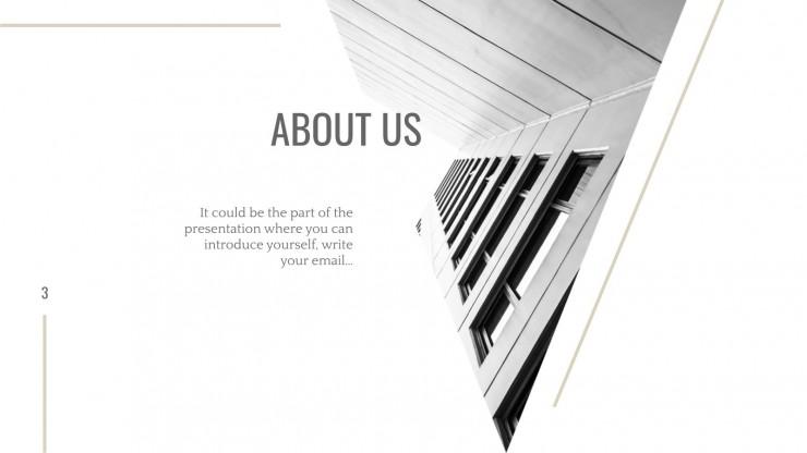 Plantilla de presentación Arquitectura en blanco y negro